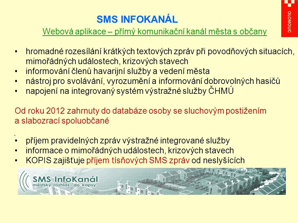 SMS INFOKANÁL.
