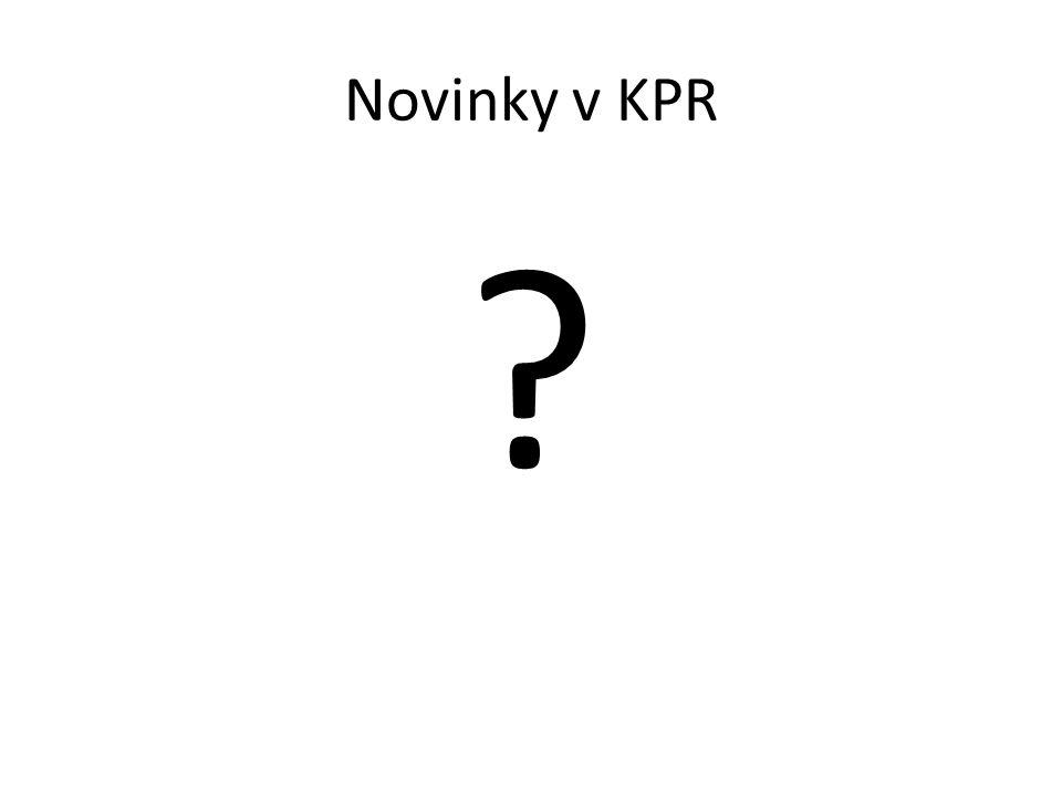 Novinky v KPR ?