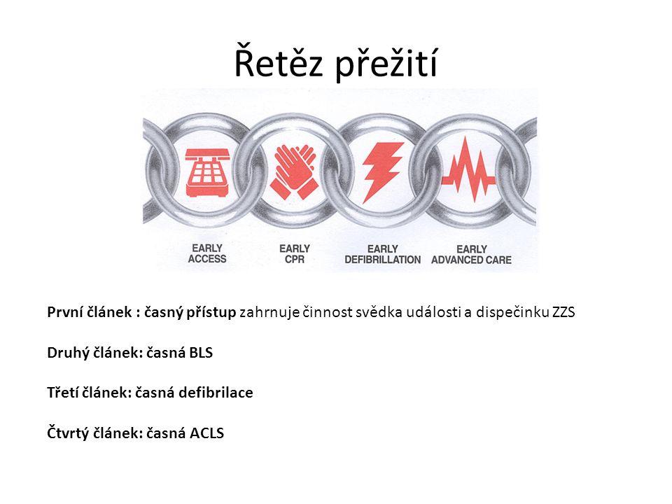 Kyslík Association between arterial hyperoxia following resuscitation from cardiac arrest and in- hospital mortality.