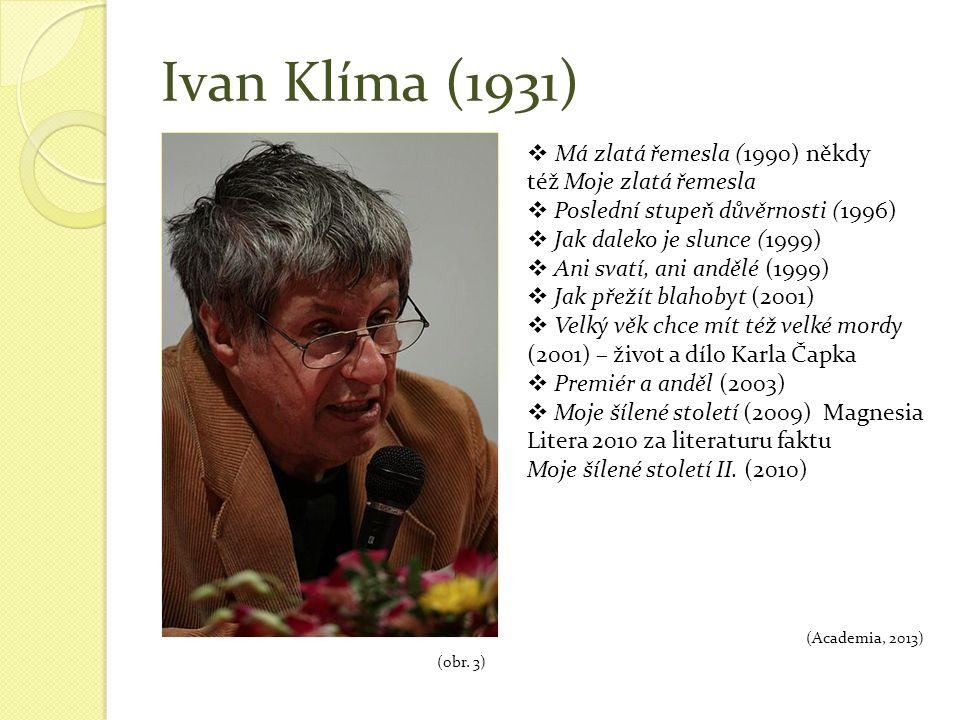 Ivan Klíma (1931) (obr.