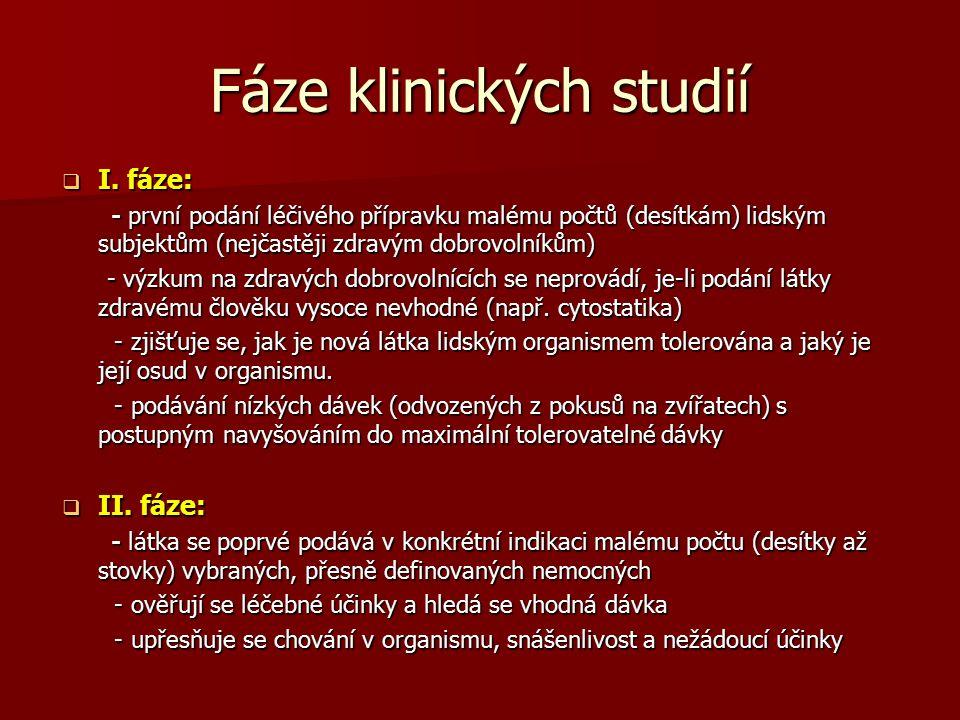 Fáze klinických studií  I.