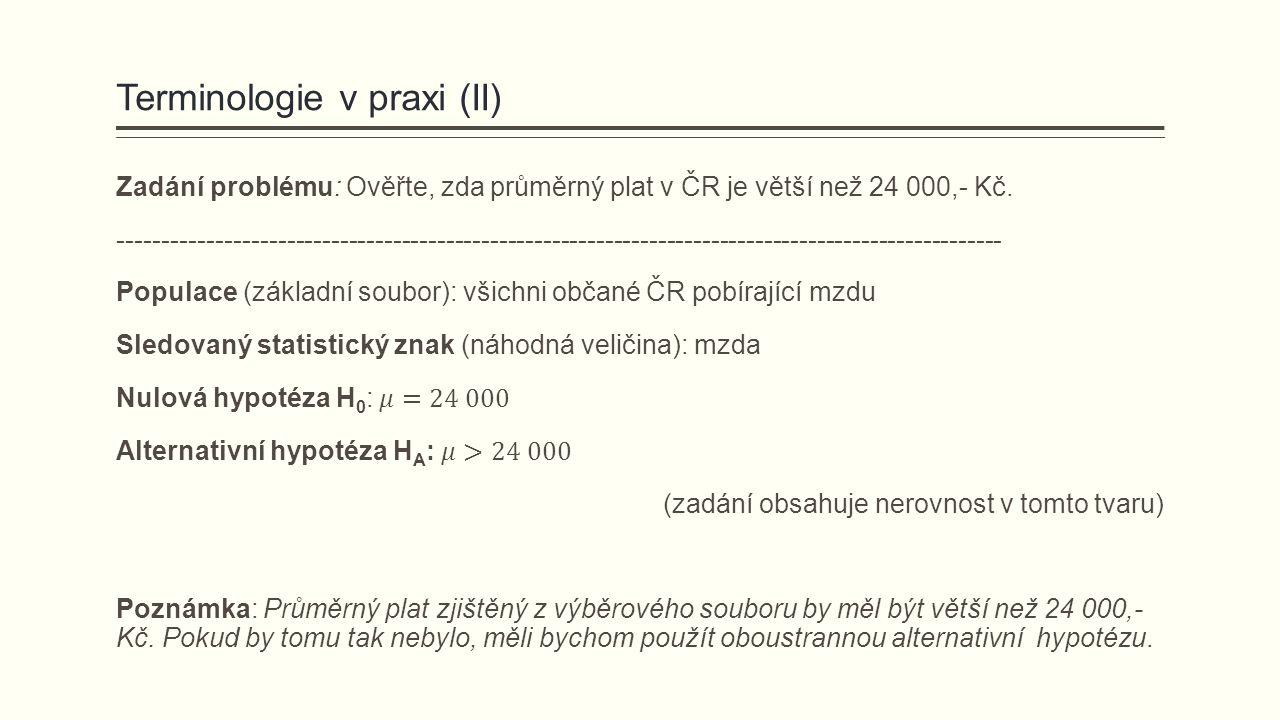 Terminologie v praxi (II)