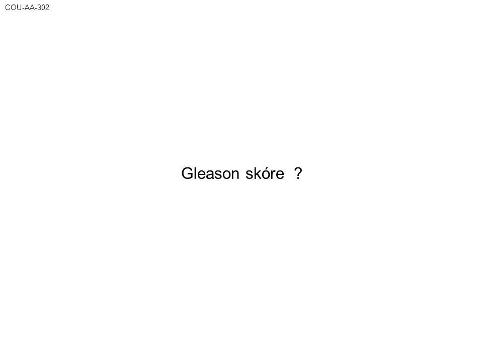 COU-AA-302 Gleason skóre