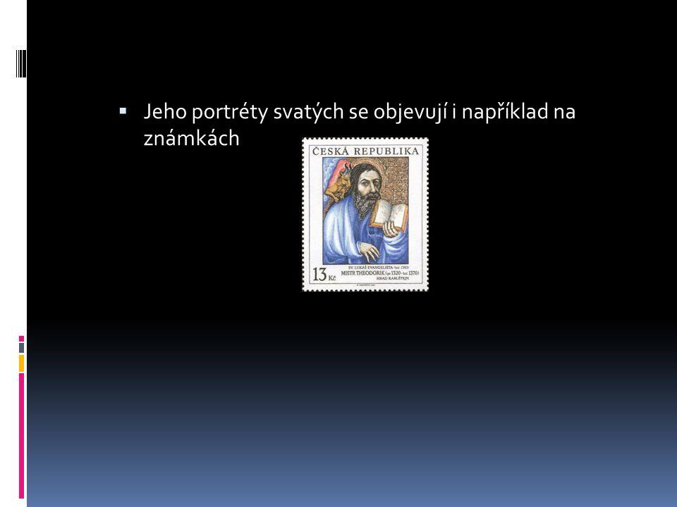  Jeho portréty svatých se objevují i například na známkách