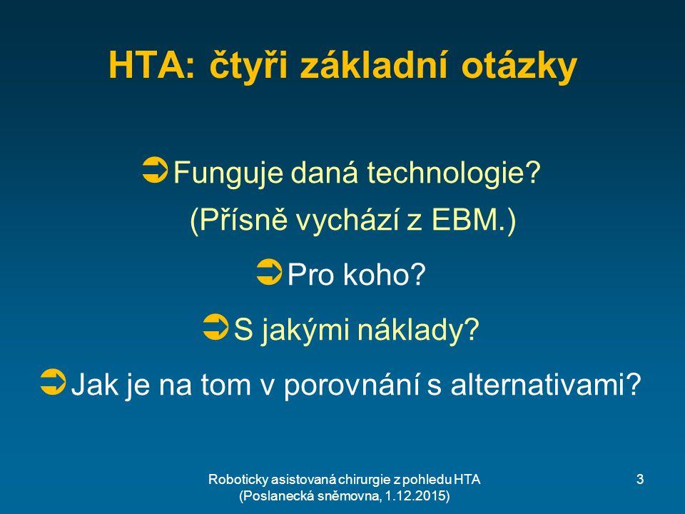 3 HTA: čtyři základní otázky  Funguje daná technologie.