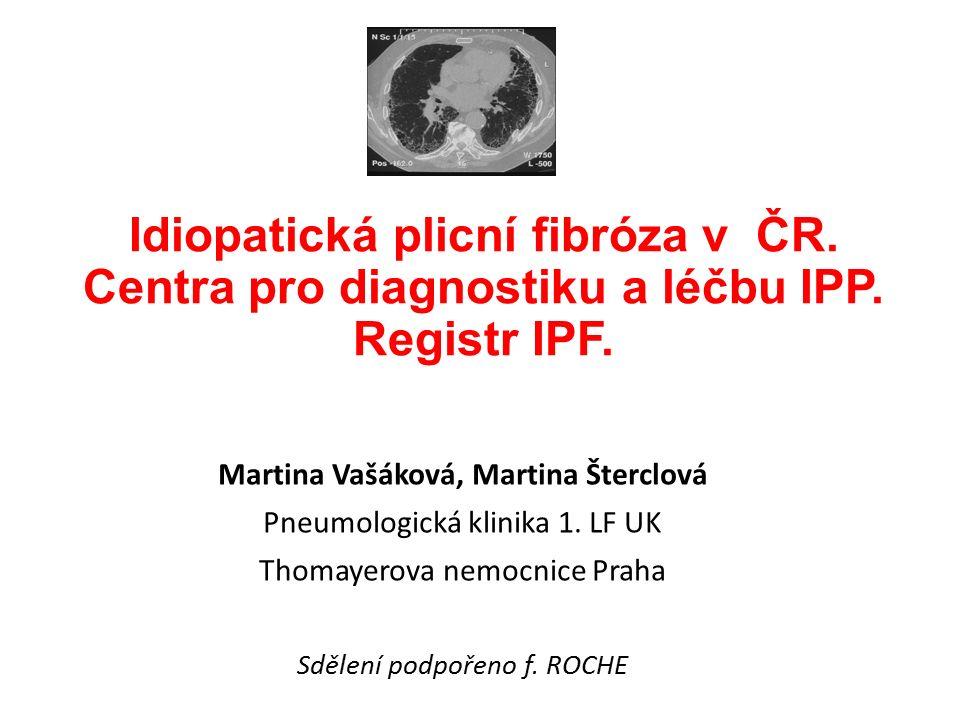 Idiopatická plicní fibróza v ČR. Centra pro diagnostiku a léčbu IPP.