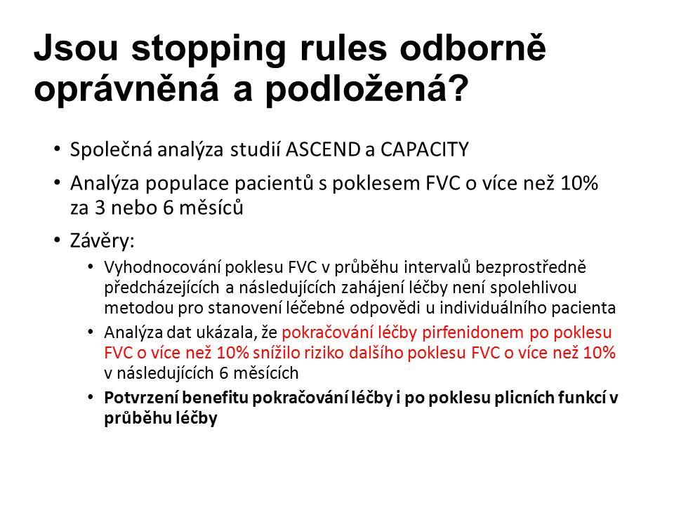 Jsou stopping rules odborně oprávněná a podložená.