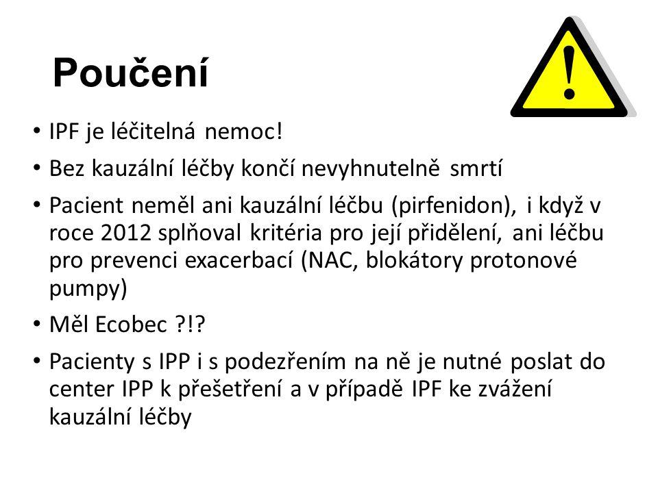Poučení IPF je léčitelná nemoc.