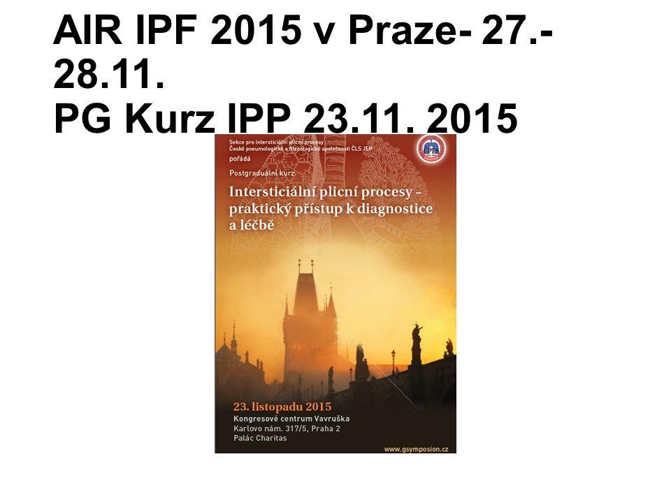 AIR IPF 2015 v Praze- 27.- 28.11. PG Kurz IPP 23.11. 2015
