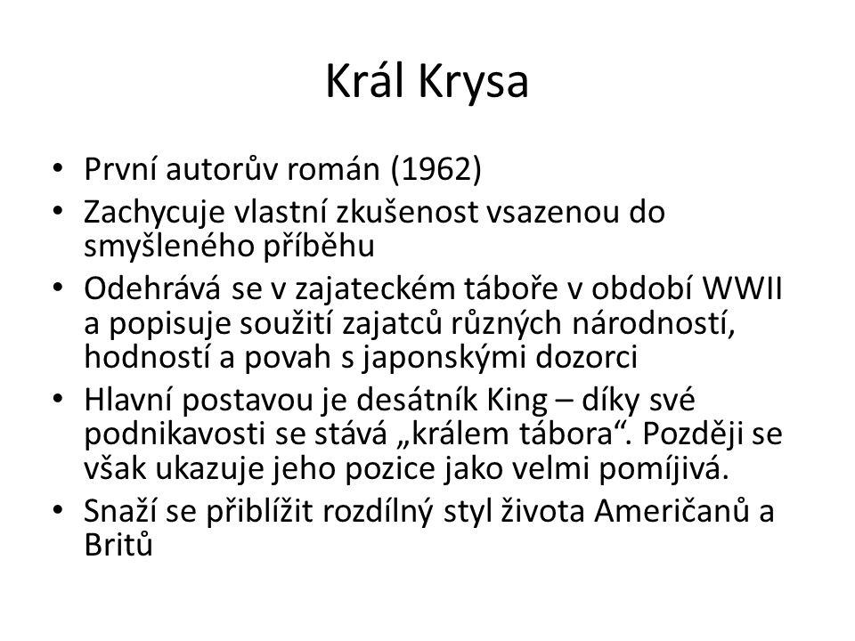 Král Krysa – práce s textem Přečtěte si následující ukázku a odpovězte na otázky: 1)Kdo je vypravěčem příběhu.