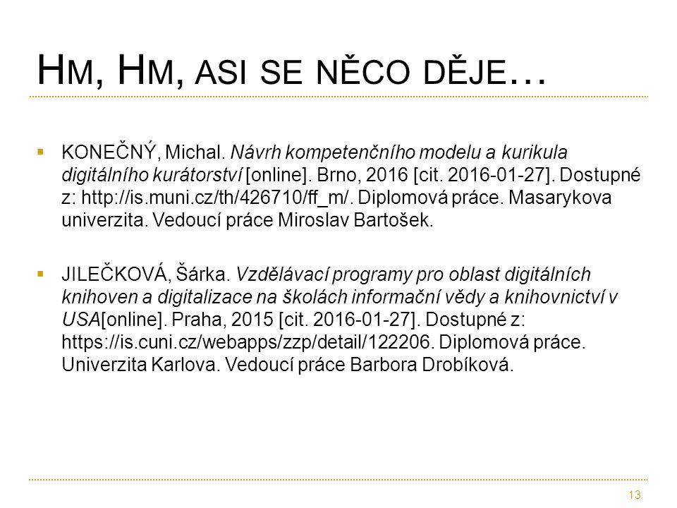  KONEČNÝ, Michal. Návrh kompetenčního modelu a kurikula digitálního kurátorství [online]. Brno, 2016 [cit. 2016-01-27]. Dostupné z: http://is.muni.cz