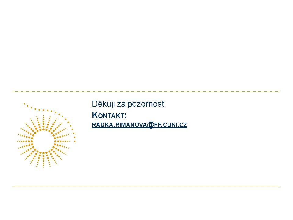 K ONTAKT : RADKA. RIMANOVA @ FF. CUNI. CZ RADKA. RIMANOVA @ FF. CUNI. CZ Děkuji za pozornost