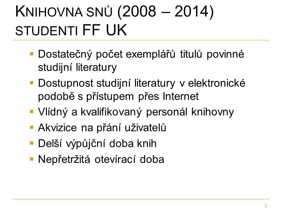  Dostatečný počet exemplářů titulů povinné studijní literatury  Dostupnost studijní literatury v elektronické podobě s přístupem přes Internet  Vlí