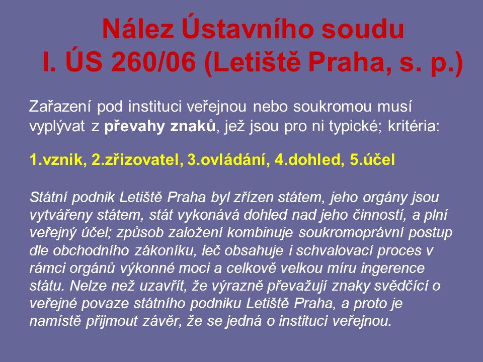 III. ÚS 671/02 – VZP, III. ÚS 686/02 – FNM 5 As 30/2004 – státní fondy 7 Ca 238/2004 – DP hl.