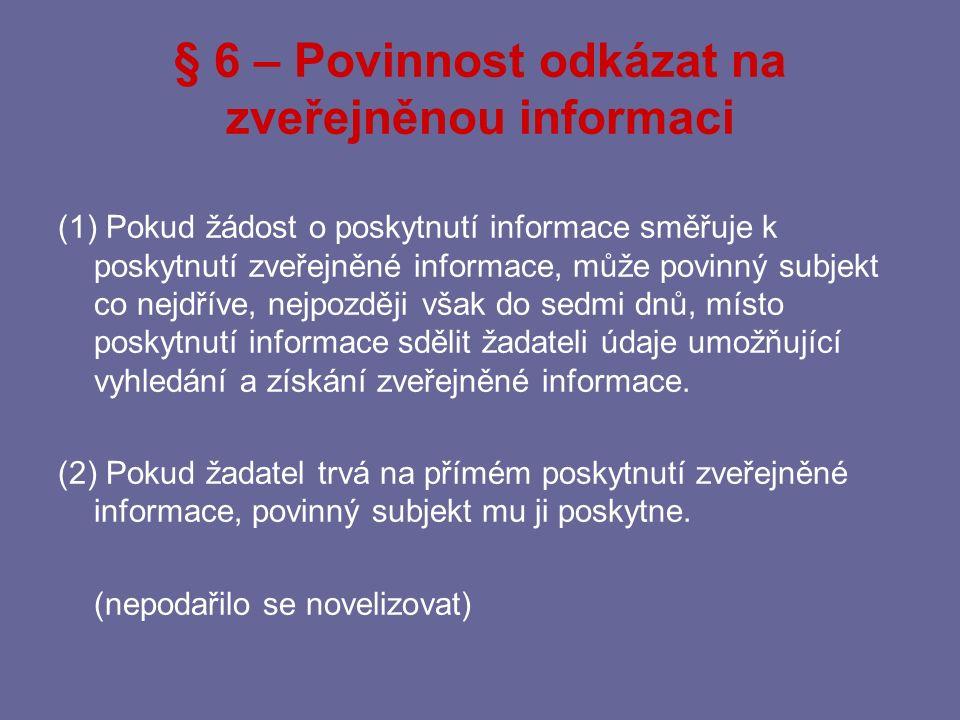 Poskytování informací mezi orgány Jde o aplikaci zákona č.
