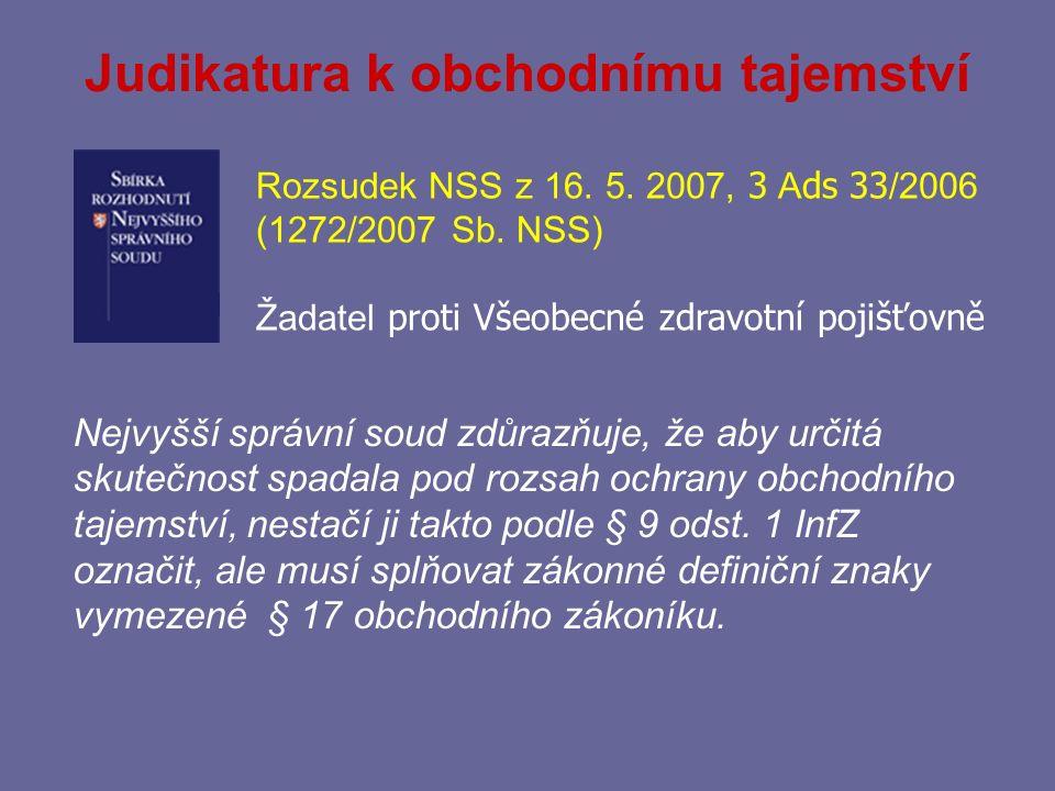 Definiční znaky obchodního tajemství § 17 obchodního zákoníku (od 1.