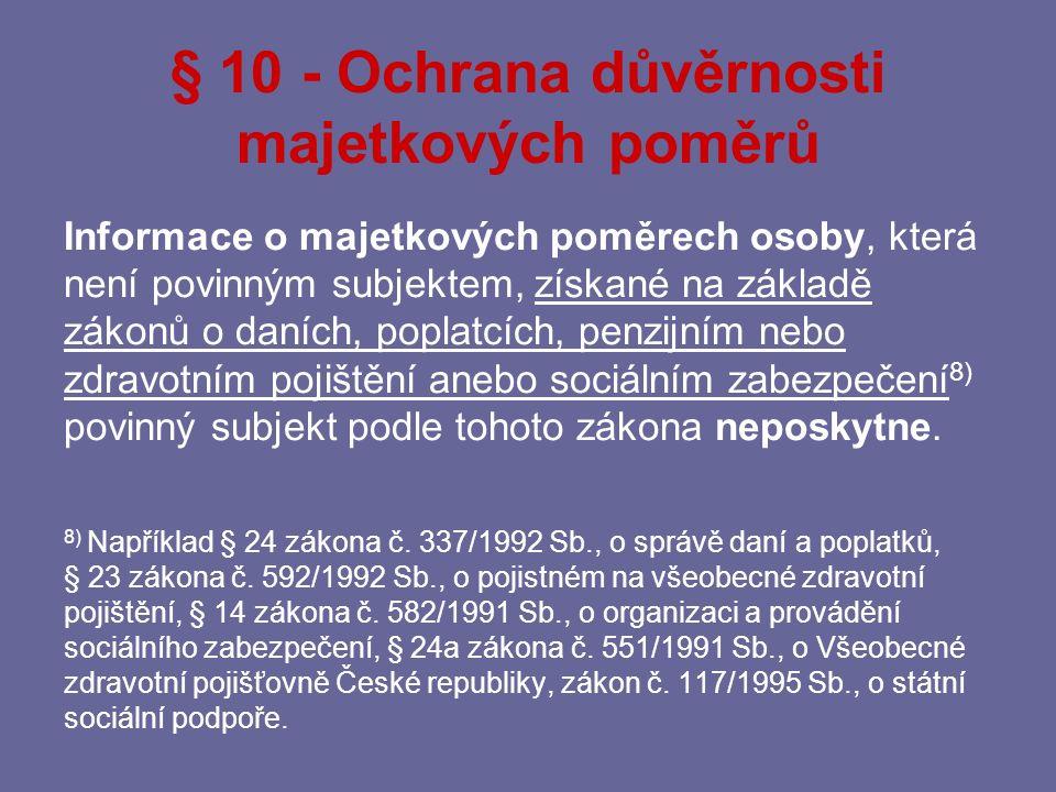 Ochrana bankovního tajemství § 38 zákona č.