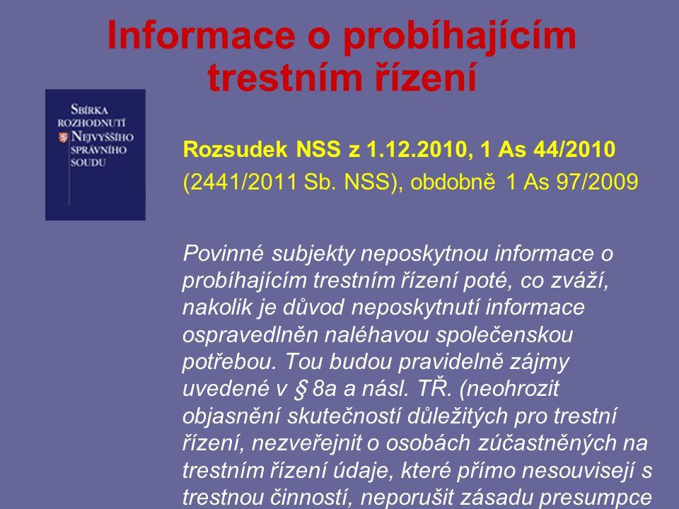 § 11 – Další omezení práva na informace odst.