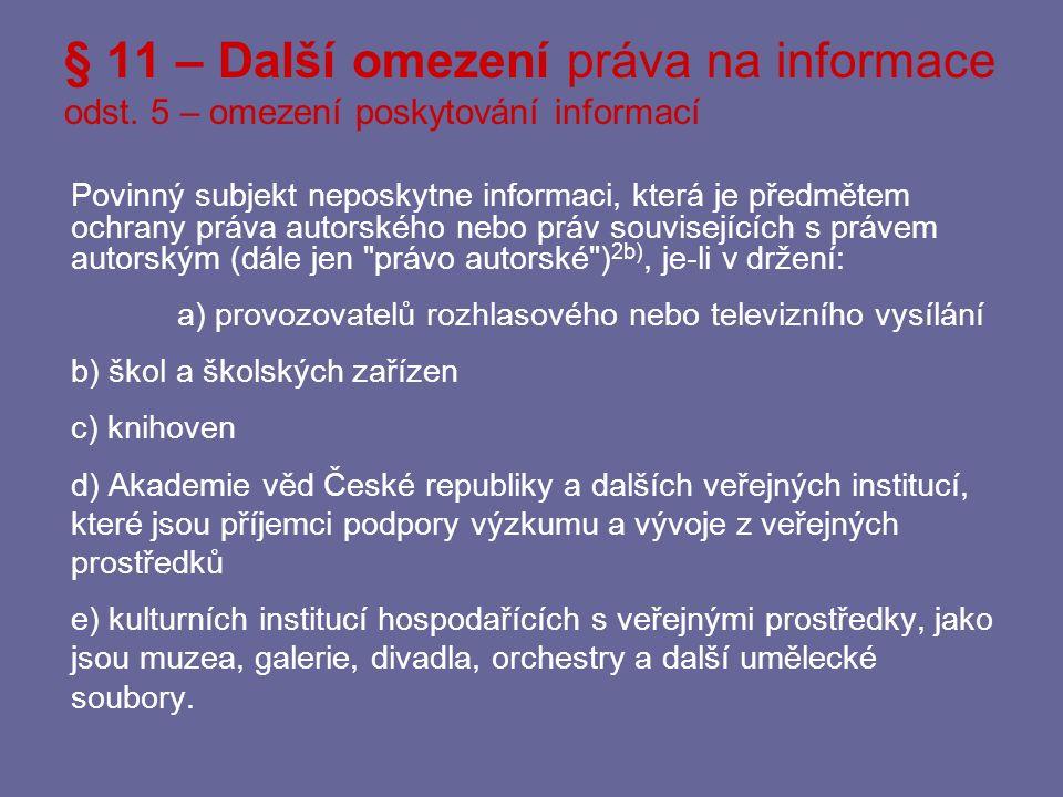 Informace o probíhajícím trestním řízení Rozsudek NSS z 1.12.2010, 1 As 44/2010 (2441/2011 Sb.