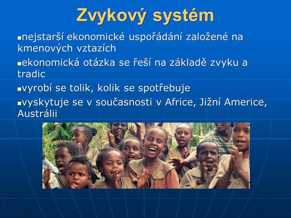 Zvykový systém nejstarší ekonomické uspořádání založené na kmenových vztazích nejstarší ekonomické uspořádání založené na kmenových vztazích ekonomick