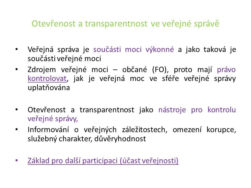 Právo na informace a informační povinnost Právo na informace a svoboda projevu - zakotveno v čl.