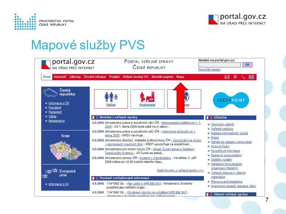 7 Mapové služby PVS