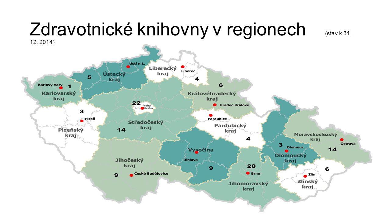 Zdravotnické knihovny v regionech (stav k 31. 12. 2014)