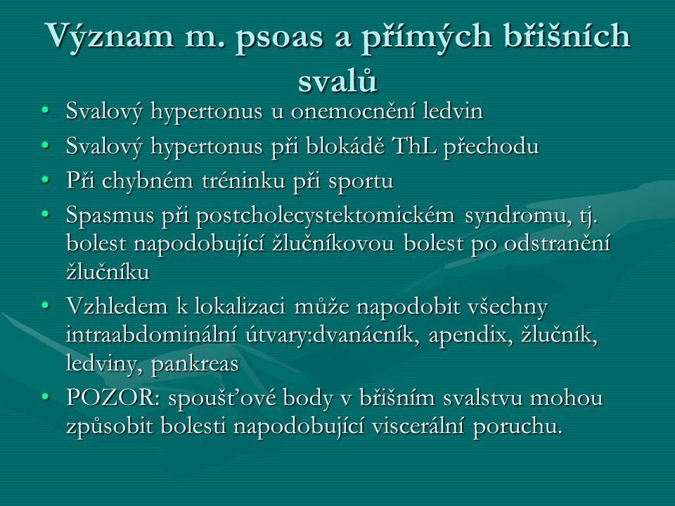 Význam m. psoas a přímých břišních svalů Svalový hypertonus u onemocnění ledvinSvalový hypertonus u onemocnění ledvin Svalový hypertonus při blokádě T