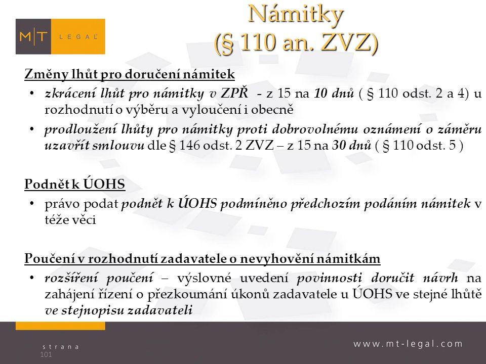 Námitky (§ 110 an.