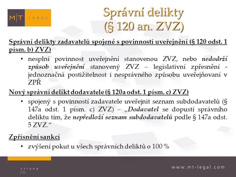 Správní delikty (§ 120 an.