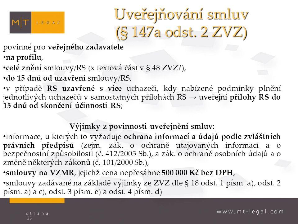 Uveřejňování smluv (§ 147a odst.