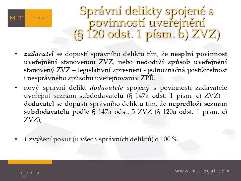 Správní delikty spojené s povinností uveřejnění (§ 120 odst.