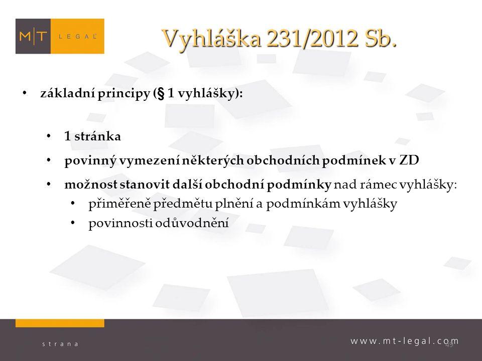 49 Vyhláška 231/2012 Sb. Vyhláška 231/2012 Sb.