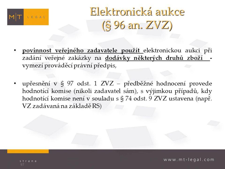 Elektronická aukce (§ 96 an.