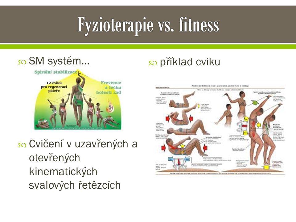  SM systém…  Cvičení v uzavřených a otevřených kinematických svalových řetězcích  příklad cviku
