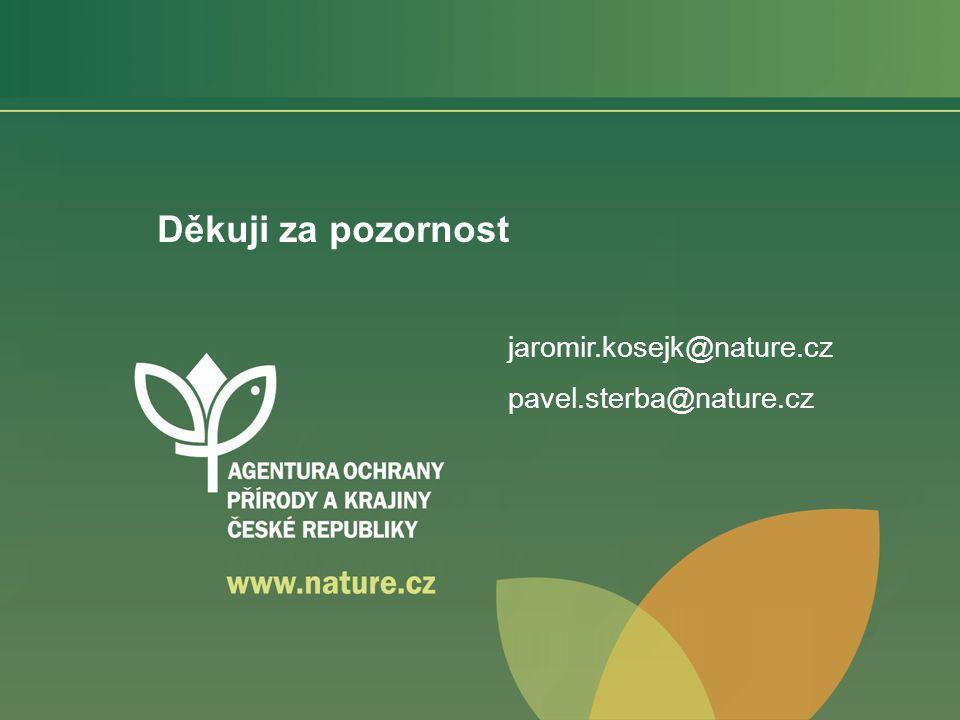 Děkuji za pozornost jaromir.kosejk@nature.cz pavel.sterba@nature.cz