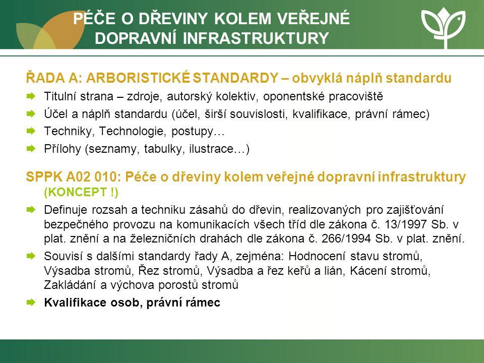 SPPK A02 010: Péče o dřeviny kolem veřejné dopravní infrastruktury (KONCEPT .