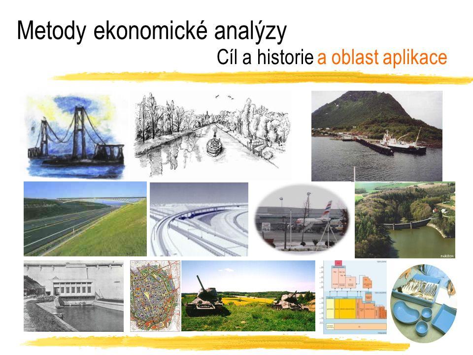Metody ekonomické analýzy Cíl a historie a oblast aplikace