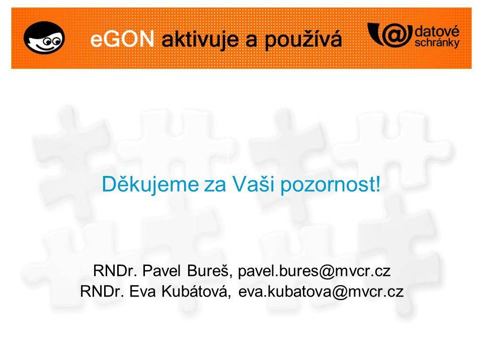 Děkujeme za Vaši pozornost. RNDr. Pavel Bureš, pavel.bures@mvcr.cz RNDr.