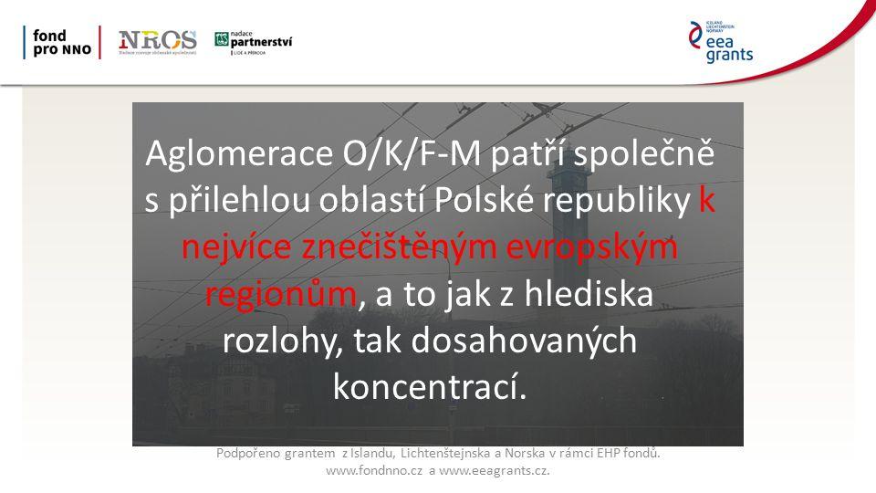 Aglomerace O/K/F-M patří společně s přilehlou oblastí Polské republiky k nejvíce znečištěným evropským regionům, a to jak z hlediska rozlohy, tak dosahovaných koncentrací.