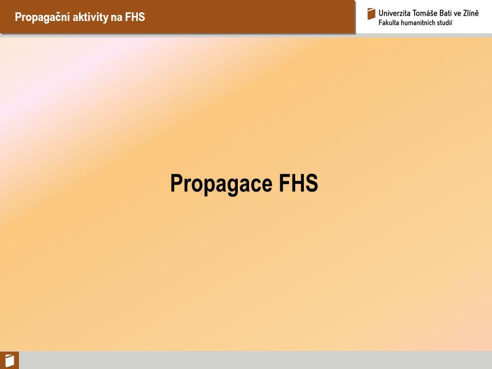 Propagační aktivity na FHS Propagace FHS