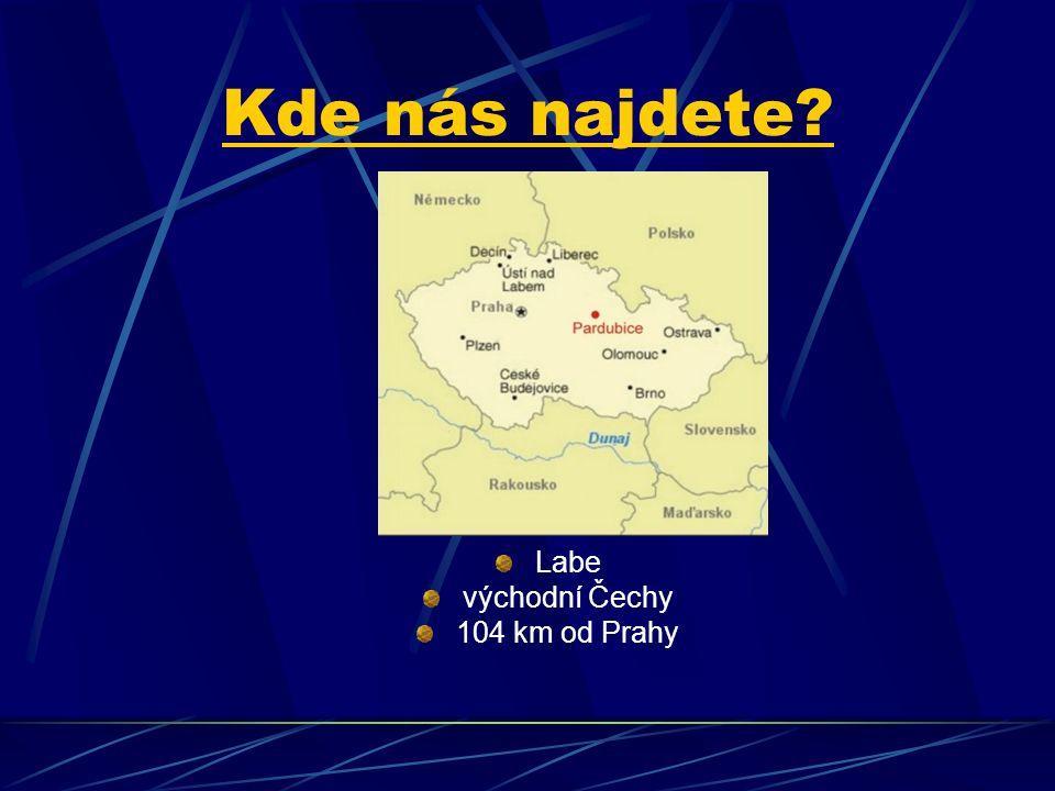 Kde nás najdete Labe východní Čechy 104 km od Prahy