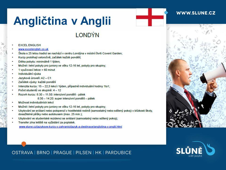Angličtina v Anglii
