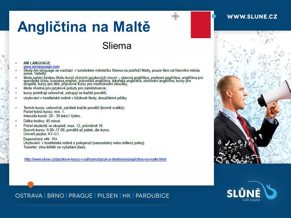 Angličtina na Maltě Sliema