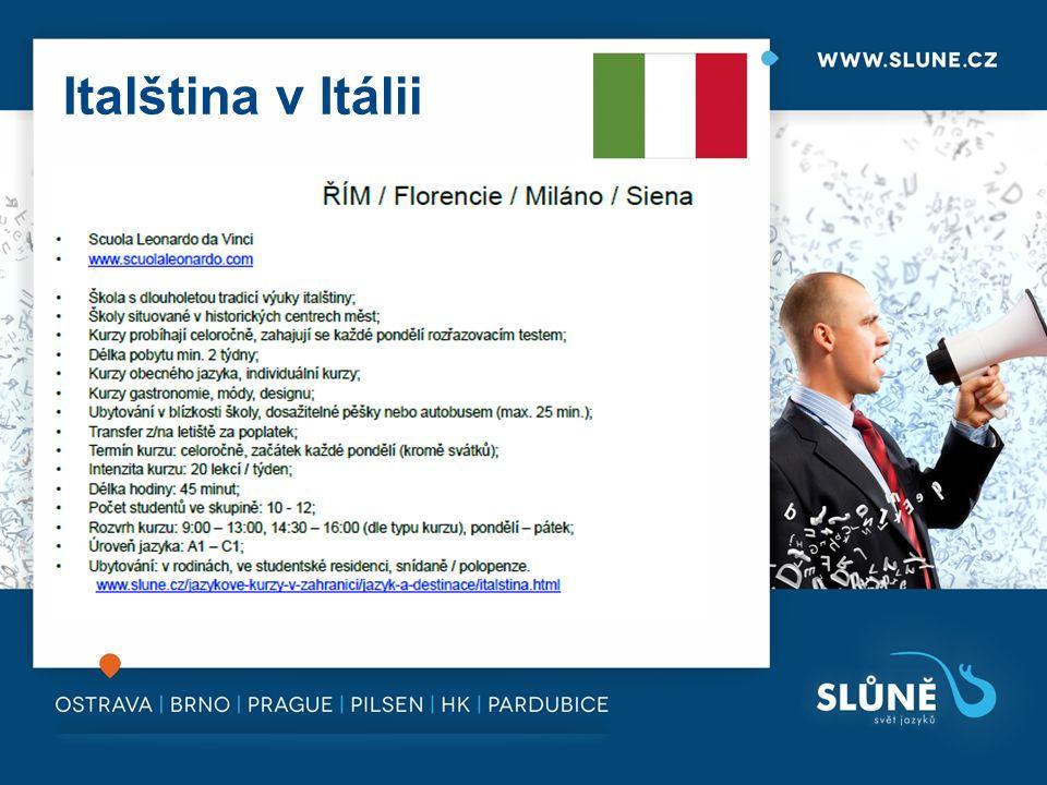 Italština v Itálii