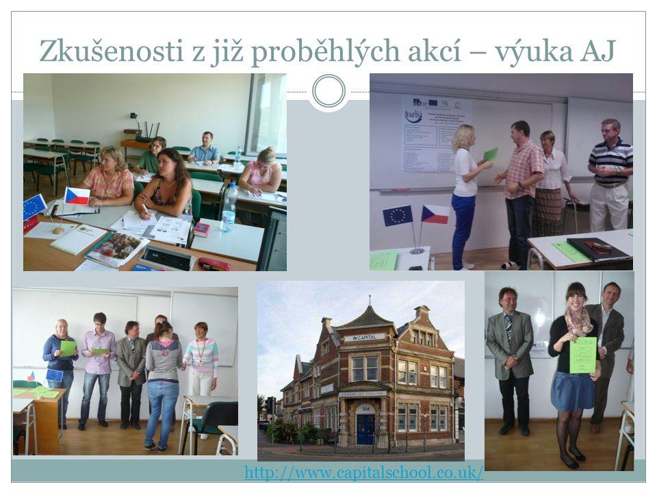 Zkušenosti z již proběhlých akcí – výuka AJ http://www.capitalschool.co.uk/