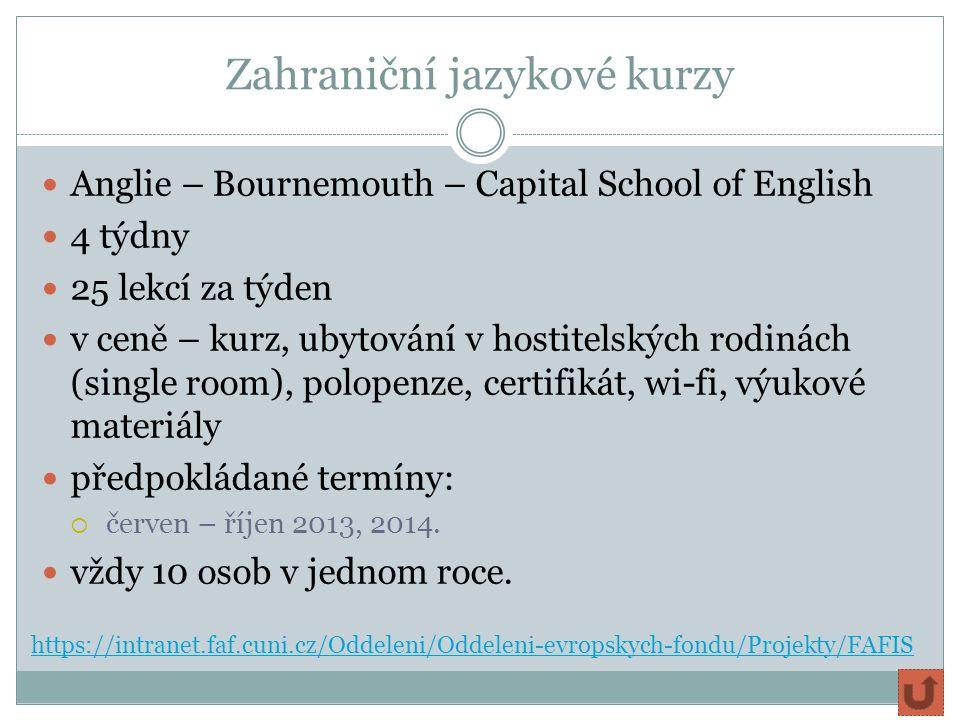 Zahraniční jazykové kurzy Anglie – Bournemouth – Capital School of English 4 týdny 25 lekcí za týden v ceně – kurz, ubytování v hostitelských rodinách (single room), polopenze, certifikát, wi-fi, výukové materiály předpokládané termíny:  červen – říjen 2013, 2014.