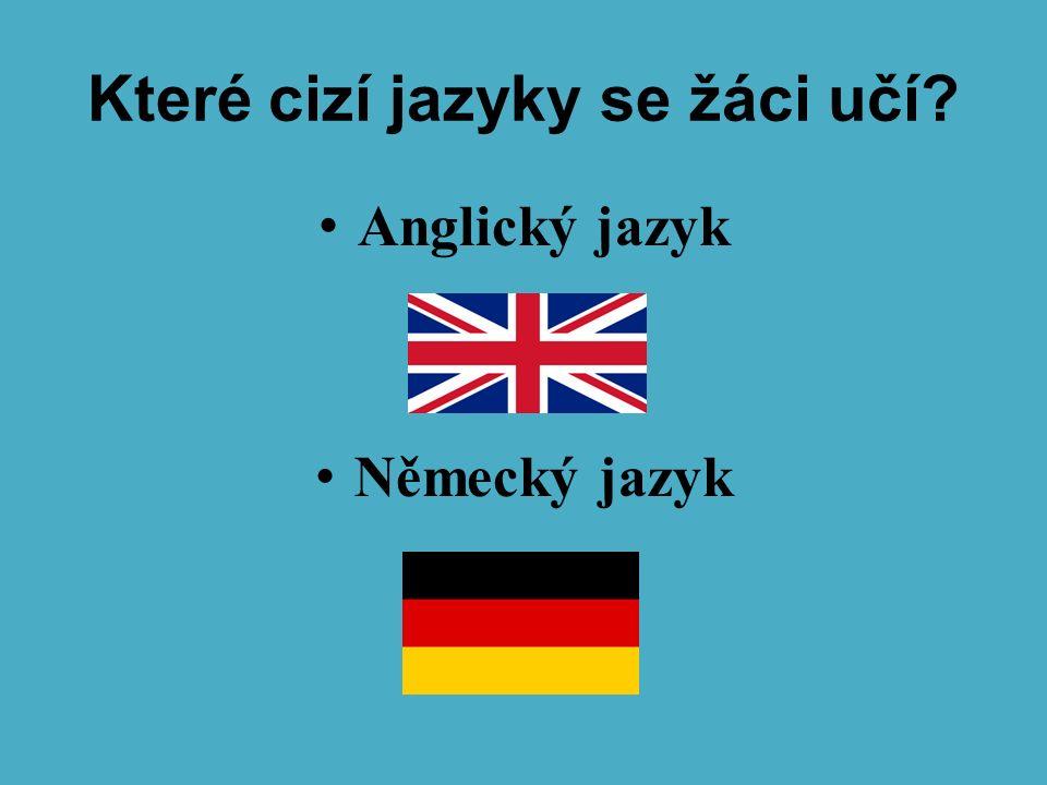 Které cizí jazyky se žáci učí? Anglický jazyk Německý jazyk