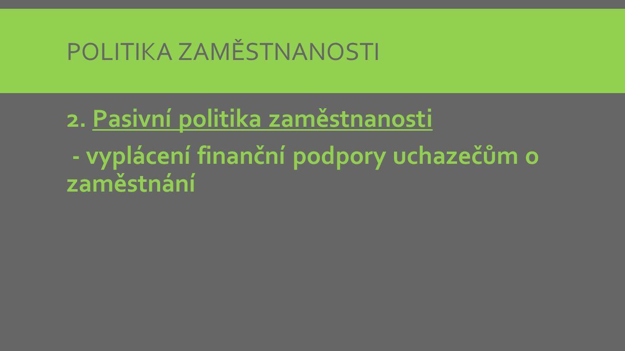 POLITIKA ZAMĚSTNANOSTI 2.