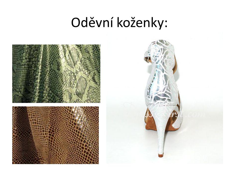 Oděvní koženky: